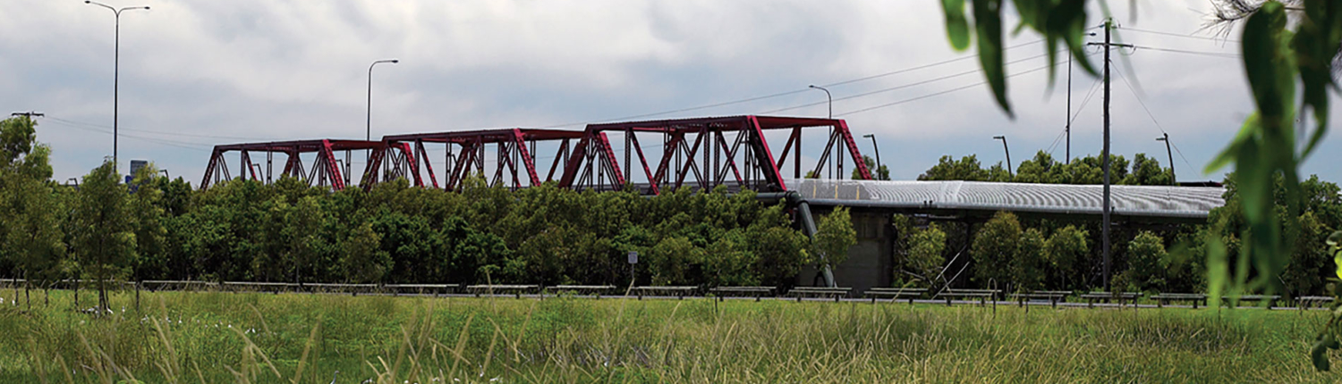 Red bridge at Beenleigh