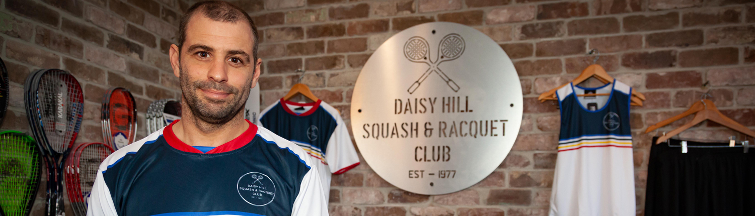 Bradley Hindle of Daisy Hill Squash and Racquet Club